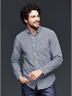 Lived-in wash gingham shirt - Washed for over an hour with special enzymes for exceptional softness, the Lived-In Wash shirt is your go-to for any occasion.