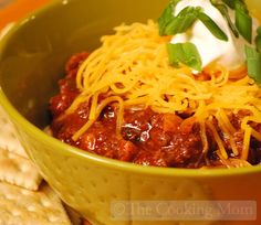 Ingredients: 5 to 6 fresh brats, casings removed 1 medium yellow onion, chopped 1 green pepper, chopped 1 yellow pepper, chopped 4 tablespoons chili powder 1 tablespoon cumin 1 teaspoon salt 1/4 teaspoon red pepper flakes (or more if you can take the heat!) 1 can (29 ounces) tomato sauce 1 can (28 ounces) diced …