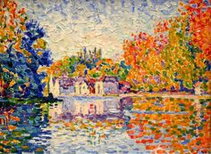 The Seine at Samois by Paul Signac