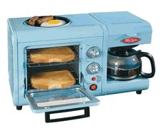 Modern Vintage ____ Nostalgia Electrics Retro Series 3-in-1 Breakfast Station  Item #BSET-100BLUE  List Price$119.99  Our Price$49.99  You Save 58%
