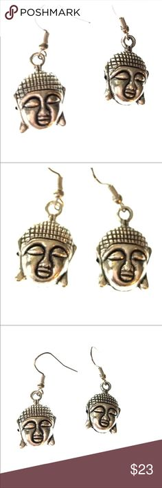 NEW Buddha handcrafted earrings These Buddha handmade earrings are hypoallergenic. Made by me. Bundle with other items in my closet to receive additional discounts. Jewelry Earrings