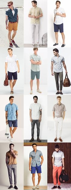 Men's Short Sleeve Shirts Summer Outfit Inspiration Lookbook