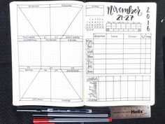 Bullet Journal Weekly Spread: November 21-27, 2016. Planner inspiration, templates, printables and more at bulleteverything.com!