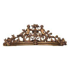 Metal Crown Wall Decor natasha aged brown wall teester bed crown | bed crown, brown walls