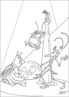 atta a bug\'s life coloring disney coloring pages, color plate ...