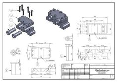 Risultati immagini per detailed assembly drawing 3d Drawing Images, 3d Drawings, Technical Drawings, Mechanical Engineering Design, Mechanical Design, Drawing Practice, Drawing Skills, Isometric Drawing Exercises, Solidworks Tutorial