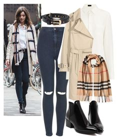 """""""Eleanor Calder inspired ♡"""" by rguelsah ❤ liked on Polyvore featuring Topshop, Joseph and Burberry"""