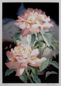 """Summer Roses"" ~ Jean Crane, watercolor"