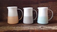 The Danish Pitcher in Mint White Color от paperandclaystudio
