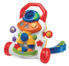 Chicco Activity Baby Walker by Chicco. $49.13. Many amusing games, lights and fun sound effects. Helps baby to stand up and take its first steps in complete safety. Encourages baby to move a few steps more. Activity center that helps stimulate baby's imagination and coordination skills. Walker immediately starts playing an amusing melody when baby takes steps. From the Manufacturer                Chicco Baby Walker helps baby to stand up and take its first steps in...