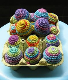 free crochet patterns: rainbow easter eggs | make handmade, crochet, craft