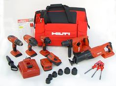 Hilti 03482676 18-Volt Cordless Combination Package, Includes 5 Tools - Power Milling Machines - Amazon.com