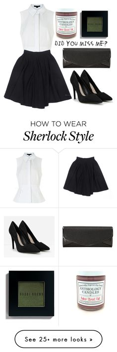 """""""//in a room of locked doors the man with the key is king//and honey you should see me in a crown//"""" by the-next-van-gogh on Polyvore featuring Alexander Wang, Le Mont St. Michel, Bobbi Brown Cosmetics, J. Furmani, CHARLES & KEITH, sherlock, bbc, Moriarty and rudeandnotgingerat221B"""