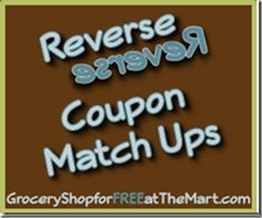 8/14 Reverse Coupon Matchups are up!  Come see how to save this week at Walmart!