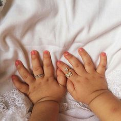 Those little sweet fingers and the beautiful rings - How cute they are. The sign of innocence - A precious little angel to cherish and to love. #Cute #Hands #Baby #Child #Ring #Sweetness #Cuteness #Kid #Little #Beauty #Innocence