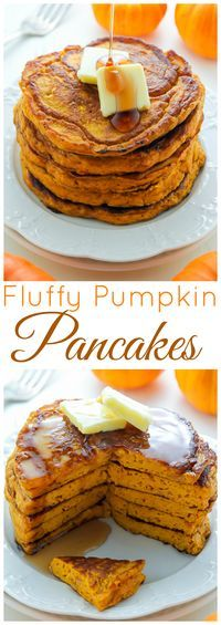 This recipe is a MUST PIN if you love moist, fluffy, flavorful pumpkin pancakes!