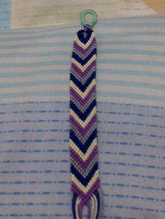 Violet Chevron Friendship Bracelet