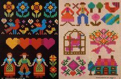 Thompson Family-Life: Cross-Stitch Pendants
