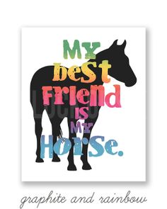 My Best Friend is My Horse 8 x 10 Art Print  Girls  by FlockofSix, $15.00