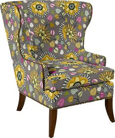 Arden Stationary Occasional Chair by La-Z-Boy.....gimmee some new wing back!  ....pattern E102954