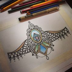 Symbiosis - ornamental with traditional tattoo