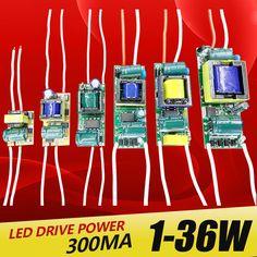 1-3 واط ، 4-7 واط ، 8-12 واط ، 15-18 واط ، 20-24 واط ، 25-36 واط led مدمج ثابت الحالي سائق إمدادات الطاقة الإضاءة 110-265 فولت الناتج 300ma transforme