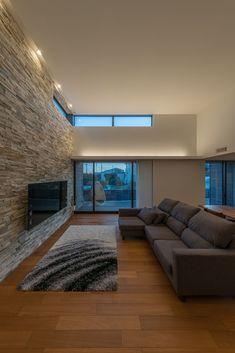 Loft House Design, Home Room Design, Room Interior, Interior Design Living Room, Floor Colors, House Rooms, Home Living Room, Home Fashion, Building A House