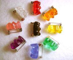 Gummy Bear Badge/Pin/Brooch