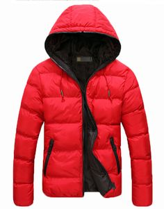 Dual Color Warm Hoodie Winter Coat Outwear Cotton Down Jacket For Unisex | Winter Clothes