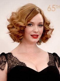 1960's Hairstyle: Elegant Short Blonde Curly Hairstyle
