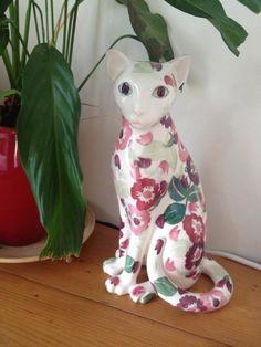Emma Bridgewater Studio Special Zinnias Cat for Collectors Day 2014