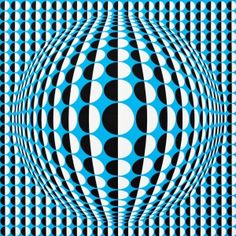 The Hungarian born Victor Vasarely became famous during his lifetime through his creation of a new movement called optical art. Victor Vasarely, Op Art, Spirited Art, Principles Of Art, Geometry Art, Illusion Art, Art Abstrait, Cool Posters, Art Design