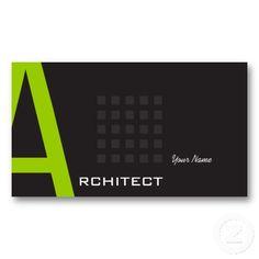 Architect Business Card Templates  #businesscards http://www.zazzle.com/ctek101*