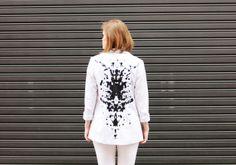 Plan B a n n a · e v e r s DIY Fold-over painted back blazer