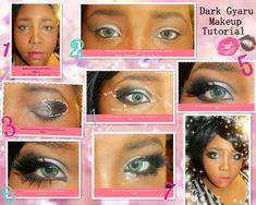 How to Do Gyaru Makeup for Westerners - Hello Lizzie Bee Purple Makeup, Black Girl Makeup, Girls Makeup, Black Kawaii Makeup, Gyaru Hair, Gyaru Makeup, Makeup Inspo, Makeup Inspiration, Makeup Tips