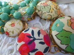 Liberty necklace, Kette Blumen  von Happy Lilly auf DaWanda.com