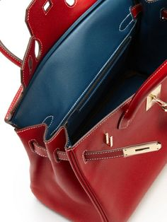 "Rare Bi-color ""Candy"" Series Rouge Casaque Epsom Birkin 30cm by Hermès at Gilt"