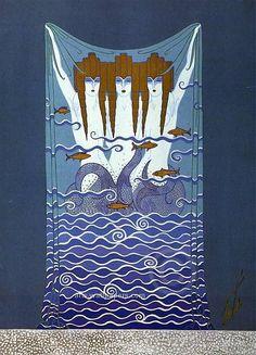 Erte' know as Romain De Tirtoff Conte Erte Art Deco rare 3 Mermaids Framed by BenjamanArtGallery on Etsy Erte Prints, Romain De Tirtoff, Erte Art, Art Deco Artists, Art Through The Ages, Inspiration Art, 23 November, Mermaids And Mermen, Art Deco Design