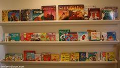 Diy gutter book shelf