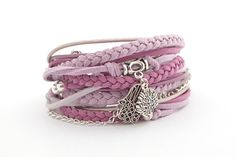 Hey, I found this really awesome Etsy listing at https://www.etsy.com/listing/219691380/lavender-lila-boho-wrap-bracelet-gray