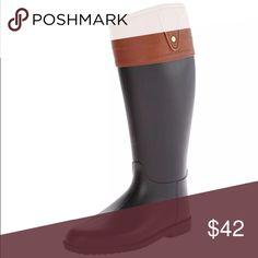 🆕List! Dirty Laundry Rain Boots! NEW! Equestrian styling. Size 6. Dirty Laundry Shoes Winter & Rain Boots