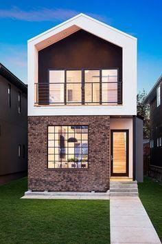 Modern facade on home
