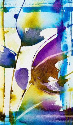 Véronique PIASER MOYEN WATERCOLOR... striking and bold choice of colors