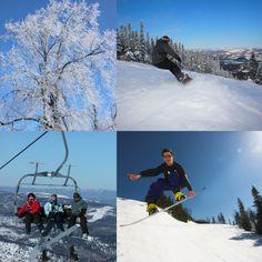 #Winter fun in #Saguenay_Lac. #snowboarding #skiing