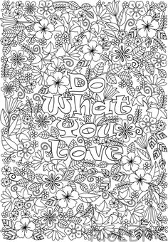 Two Inspirational Coloring Pages I Can Do All Things Love Coloring Pages, Printable Coloring Pages, Coloring Books, Colouring Sheets, Free Adult Coloring, Doodle Coloring, Stress, Love Flowers, Flower Designs
