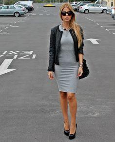50 shades of gray dress, elegant style