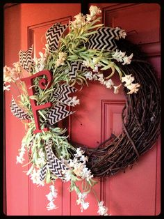 Initial wreath..... Designs by Karrie