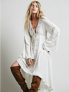 Summer Embroidered Casual Long  Dress Get at www.mermaidsandsailors.net