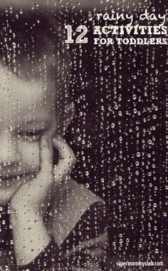 These rainy day activities for toddlers are easy to set up and should help keep boredom at bay!