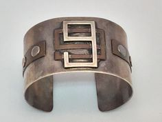 """Cuff Bracelet Frank Patania 99s Powder Puff Derby By Beatrice Edgerly Macpherson  